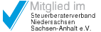 Logo Mitglied im Steuerberaterverband Niedersachsen Sachsen-Anhalt e. V.